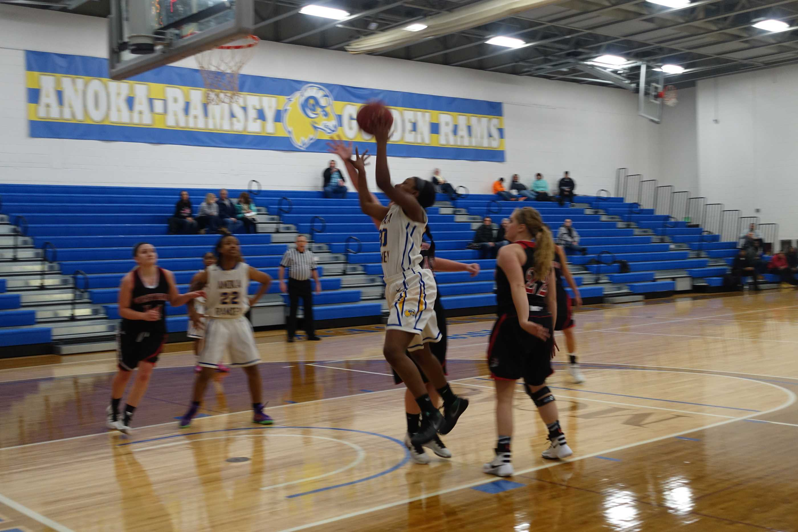 A recent action shot from a Rams women's basketball home game. Photo Credit: Ryan Schaal