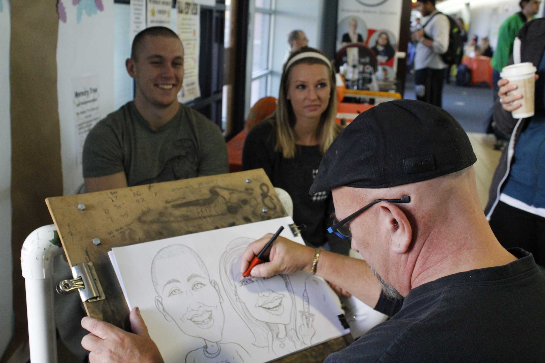 Caricatures, Free Pizza and Live Music Made Fall Fest a Success