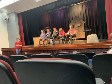 Katherine Skoretz and her theater students during the Q&A session after their February 9 performance. Photo Credit: Lexi Murphy