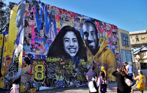 Street pop artist Mr. Brainwash created this mural in California in honor of Bryant and his daughter. Image Credit: Joey Zanotti
