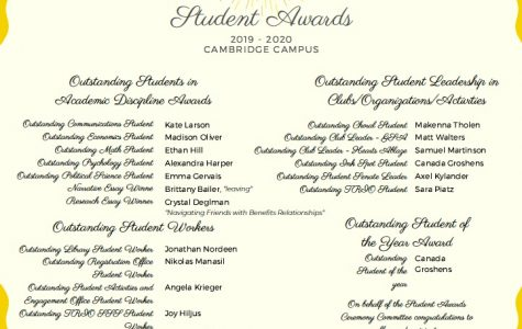 Student Life Announces Yearly Award Winners