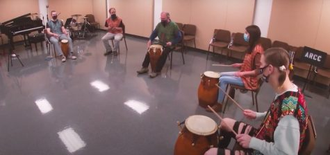 World Drumming Ensemble Performs Socially-Distanced Live Video