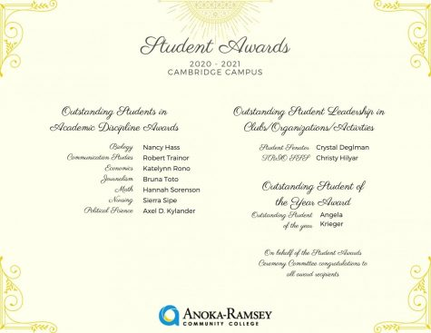Student Awards Celebrated Virtually This Year